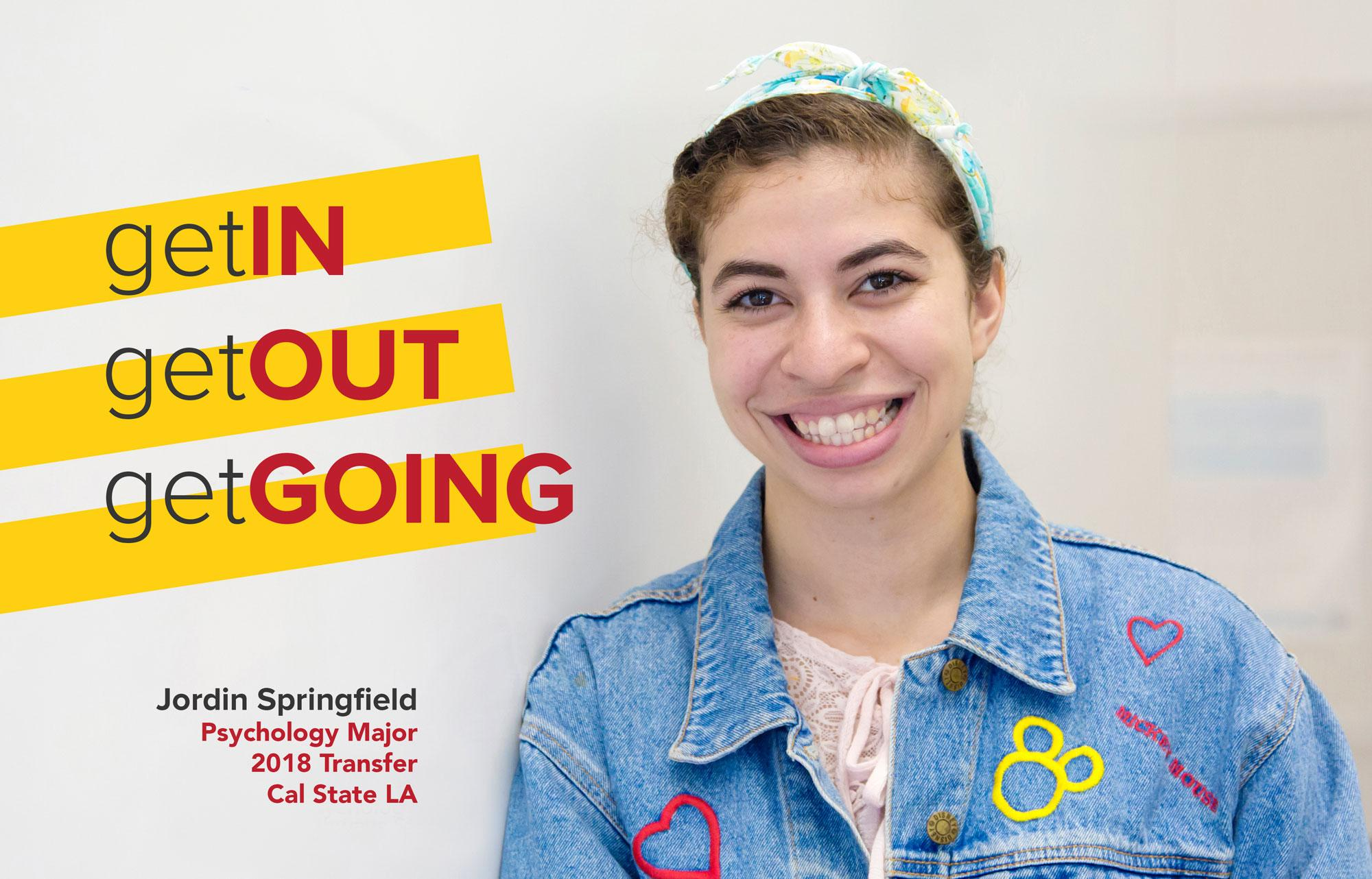 Jordin Springfield is a Psychology Major transferring to Cal State LA.