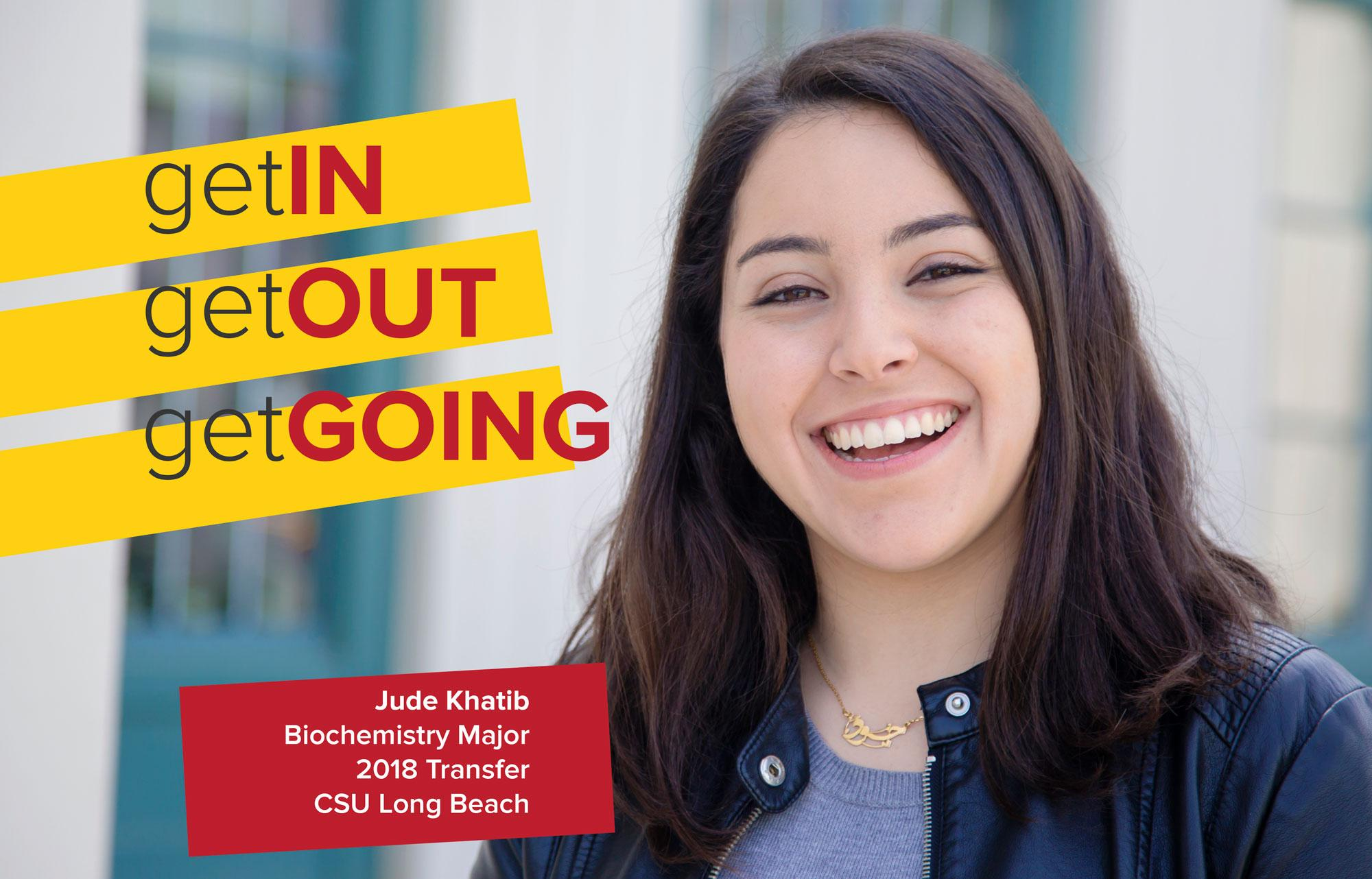 Jude Khatib is a Biochemistry major transferring to Cal State Long Beach.