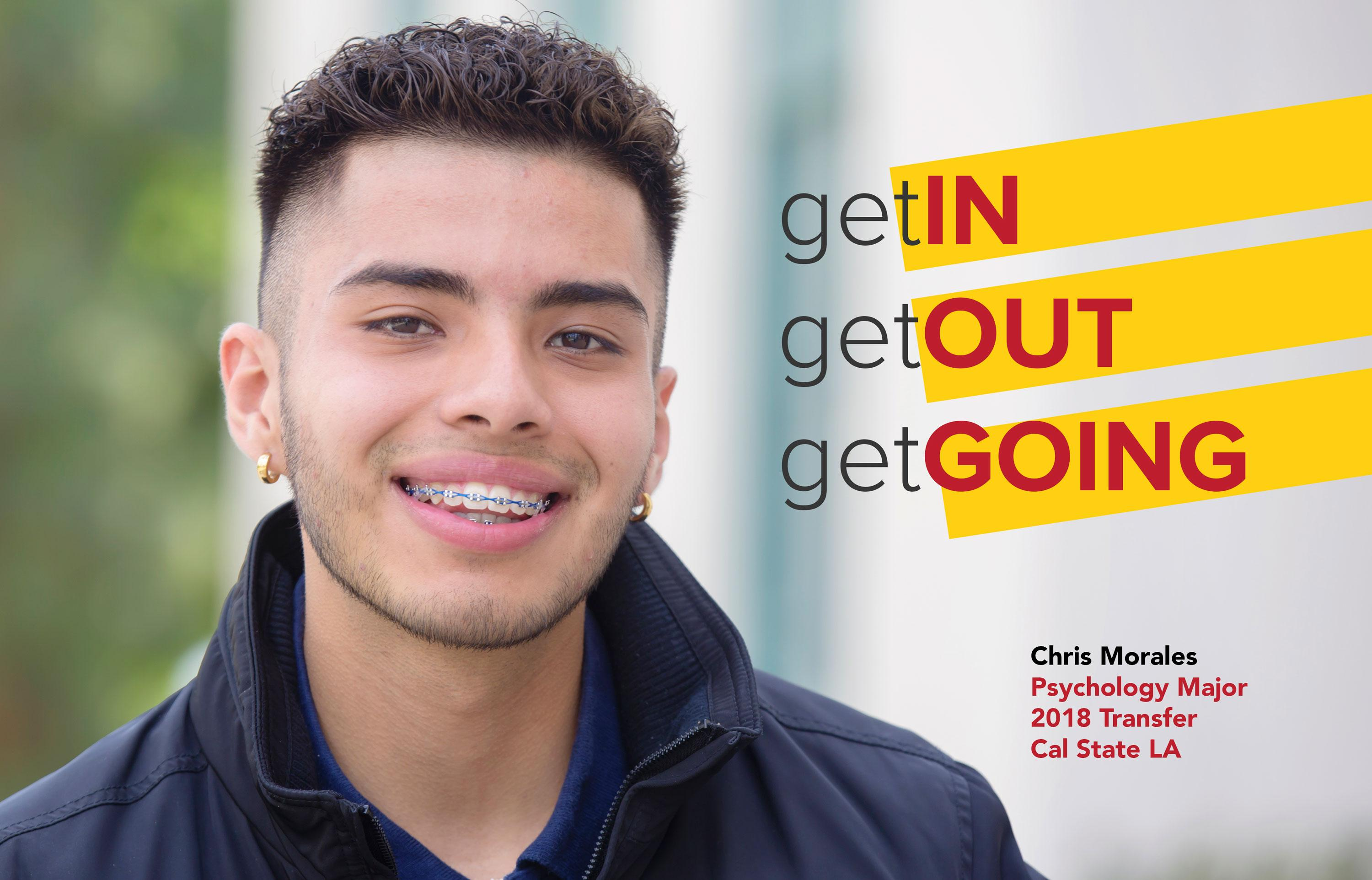 Chris Morales is a Psychology Major, transferring to Cal State LA in 2018.