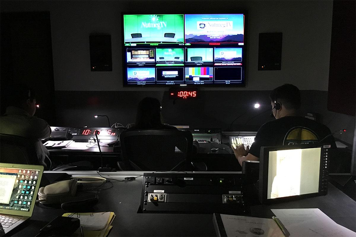 Behind the scenes in our state-of-the-art live television control room.