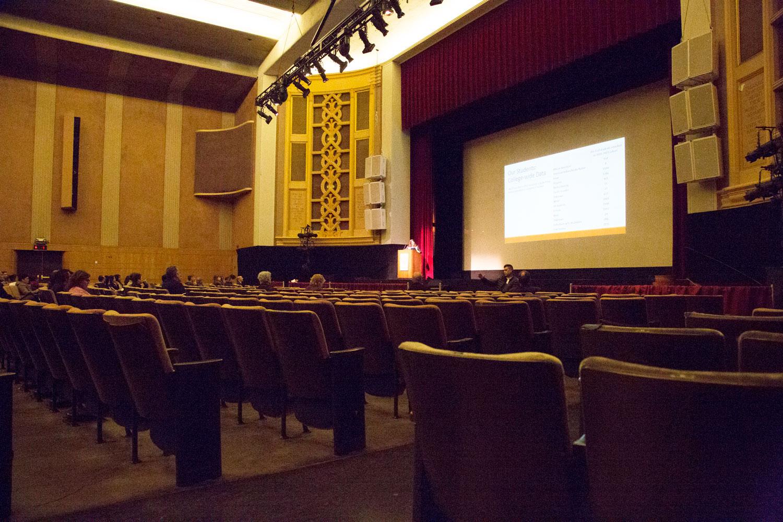 The inside of Sexon Auditorium