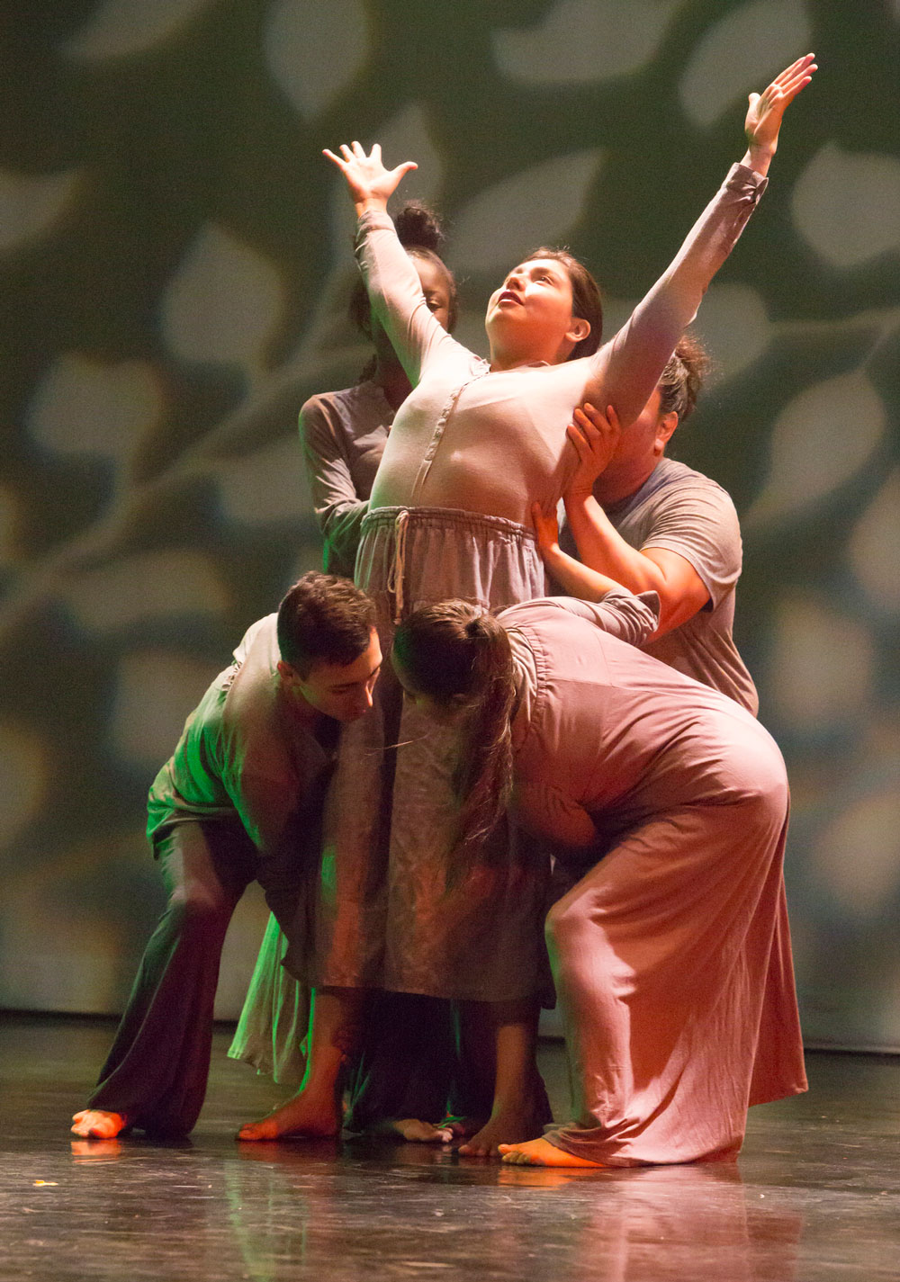 Students perform in a dance recital at Pasadena City College.