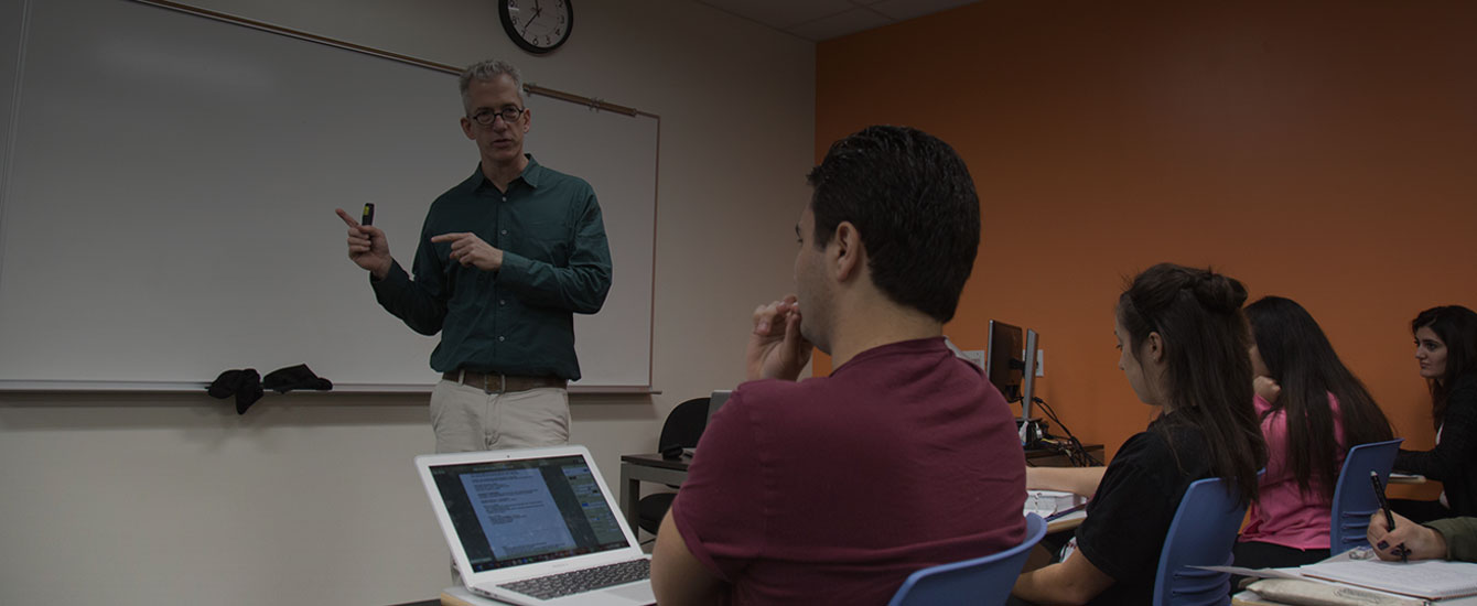 Anthropology professor teaches students at PCC