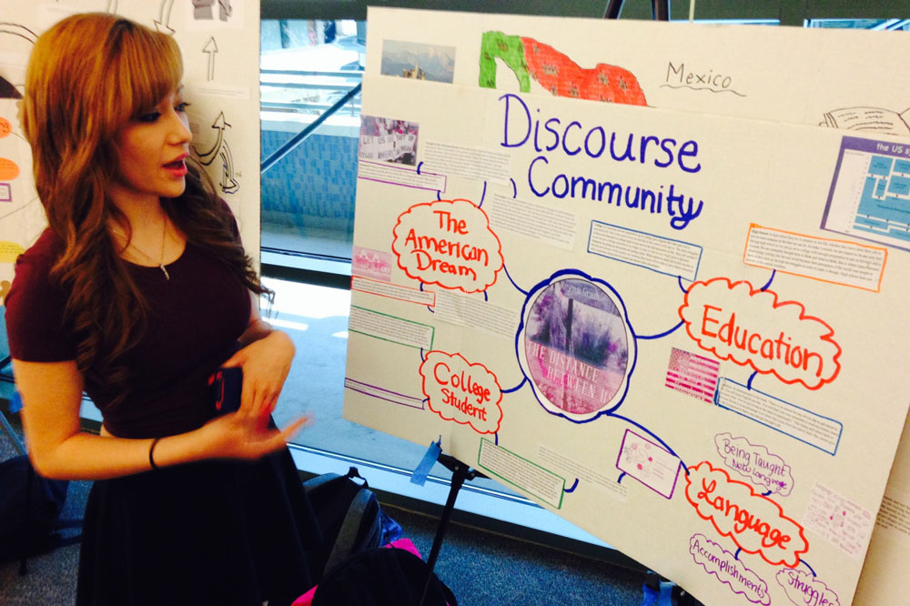 A STACC student presents their english discouse project