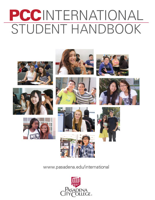 Cover of the International Student Handbook, click to Download