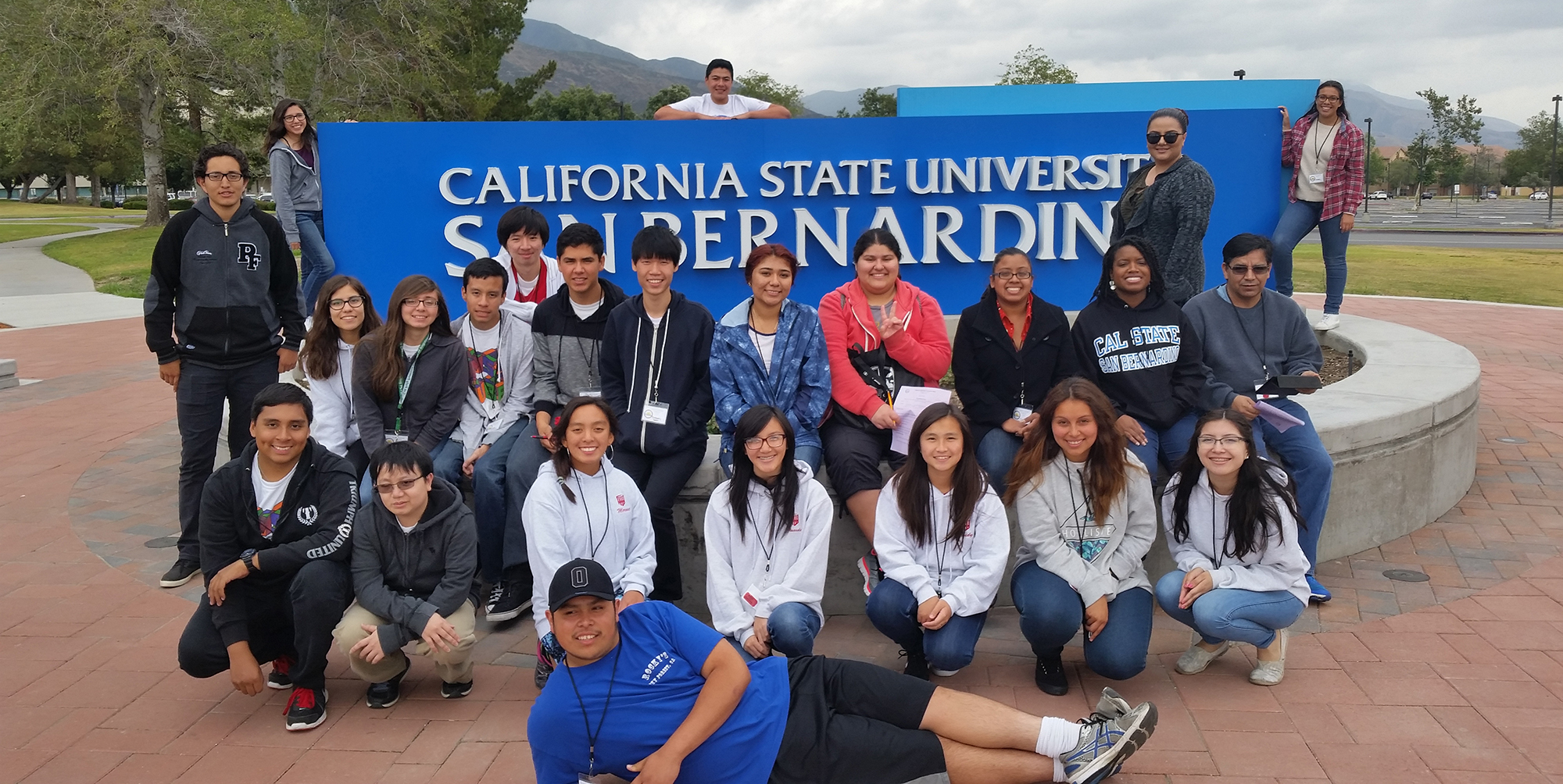 Students from UBMS visit Cal State San Bernardino.
