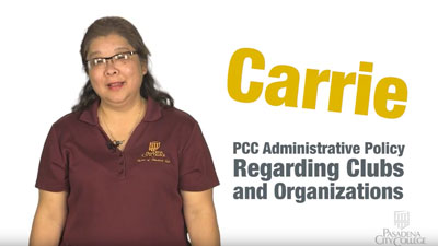 PCC Administrative Policy regarding clubs and organizations video