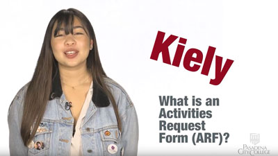 What is an activities request form (ARF)?