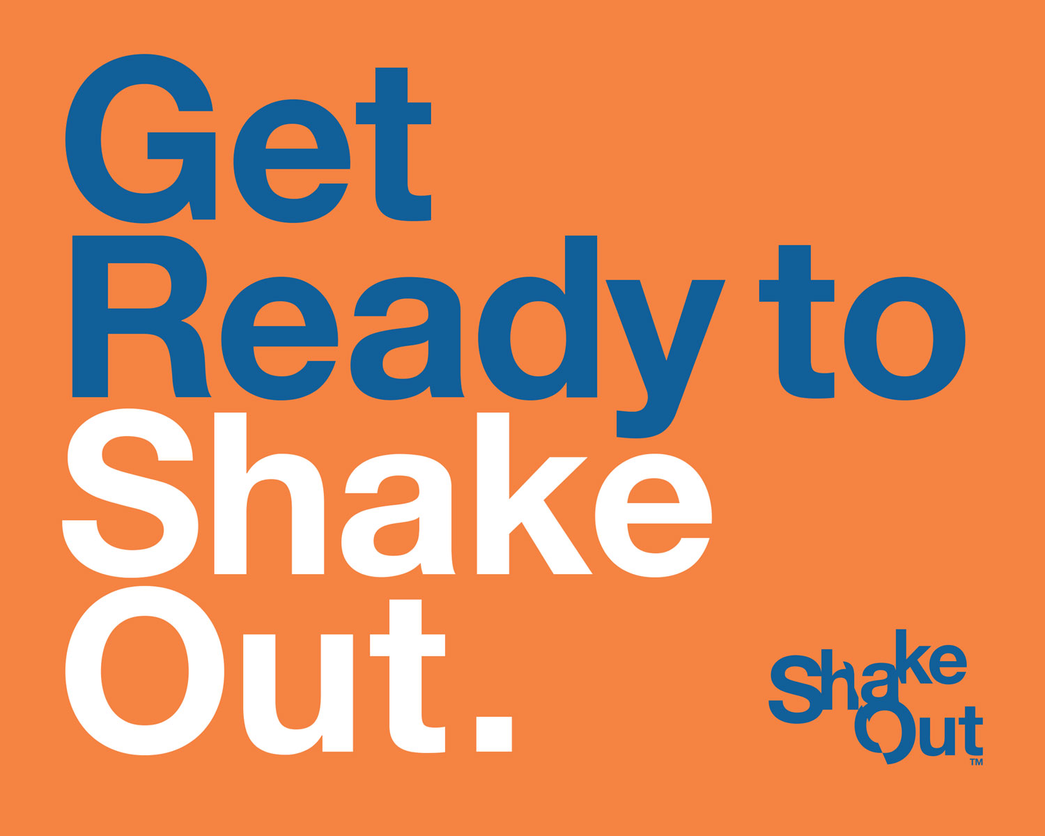 The Great ShakeOut Earthquake Drill is October 17